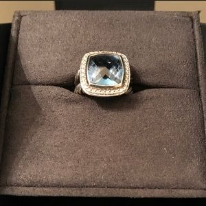 David Yurman Albion 11mm Blue Topaz Ring